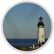 Yaquina Head Lighthouse 4 C Round Beach Towel