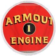 Yarmouth Engine 1 Round Beach Towel