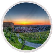 Yburg Sunset Round Beach Towel