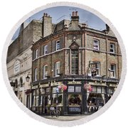 Ye Old Rose And Crown Round Beach Towel