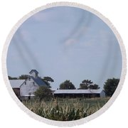 Ye Olde Farmstead Round Beach Towel