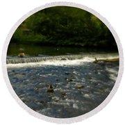 Ye Olde River Wye Round Beach Towel