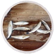 Yea It's Trout For Dinner Round Beach Towel