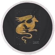 Year Of The Dragon Round Beach Towel