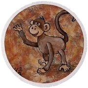 Year Of The Monkey Round Beach Towel