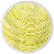 Yellow Arcs Round Beach Towel