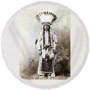 Yellow Badger 1880 Round Beach Towel