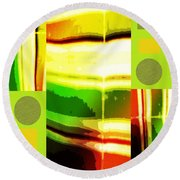 Yellow Bliss Round Beach Towel