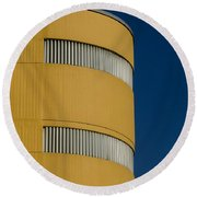 Yellow Building Round Beach Towel
