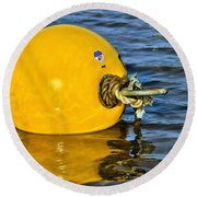Yellow Buoy Round Beach Towel