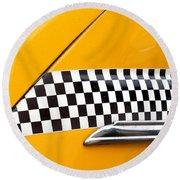 Yellow Cab - 4 Round Beach Towel
