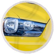 Yellow Charger 1520 Round Beach Towel