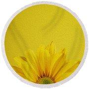 Yellow Chrysanthemum Round Beach Towel