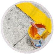 Yellow Round Beach Towel