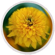 Yellow Delight Round Beach Towel