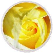 Yellow Diamond Rose Palm Springs Round Beach Towel