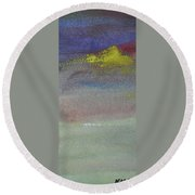 Yellow Emerges Round Beach Towel