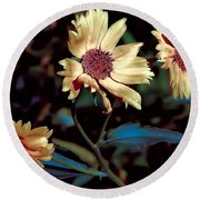 Yellow Flower Viii Round Beach Towel