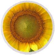 Yellow Glory #1 Round Beach Towel