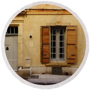 Yellow House No 32 Arles France Dsc01779  Round Beach Towel