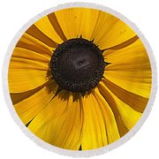 Yellow Macro Round Beach Towel