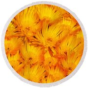 Yellow Radiance  Round Beach Towel