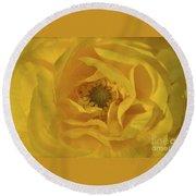 Yellow Ranunculus Round Beach Towel