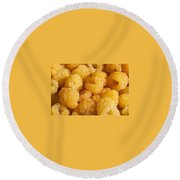 Yellow Raspberry Abstract Round Beach Towel