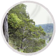 Yellow River Round Beach Towel