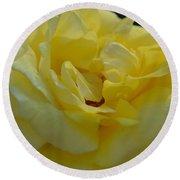 Yellow Rose Frills Round Beach Towel