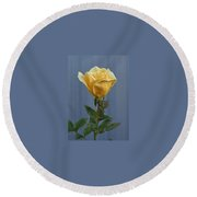 Yellow Rose Greeting Card Round Beach Towel