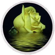 Yellow Rose II Round Beach Towel by Sandy Keeton