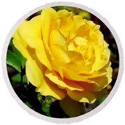 Yellow Rose IIi Round Beach Towel