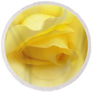 Yellow Roses Triptych Panel Round Beach Towel