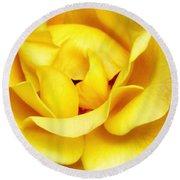 Yellow Sapphire Rose Palm Springs Round Beach Towel