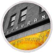 Yellow Sign Theatre Round Beach Towel