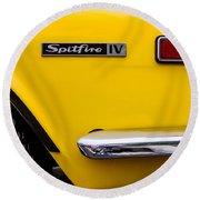 Yellow Triumph Spitfire Round Beach Towel