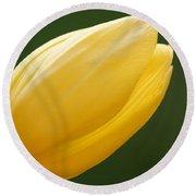 Yellow Tulip 1 Round Beach Towel
