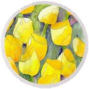Yellow Tulips 2 Round Beach Towel