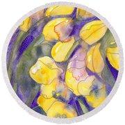 Yellow Tulips 3 Round Beach Towel