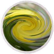 Yellow Whirlpool Round Beach Towel