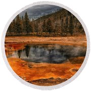 Yellowstone 3 Round Beach Towel