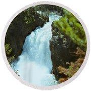 Yellowstone Falls Round Beach Towel