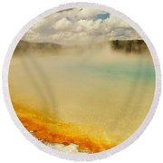 Yellowstone Hot Springs Round Beach Towel