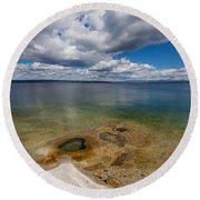 Yellowstone Lake  Round Beach Towel