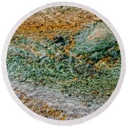 Yellowstone Living Thermometer Abstract Round Beach Towel