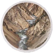 Yellowstone National Park Montana  3 Panel Composite Round Beach Towel