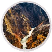 Yellowstone River Round Beach Towel