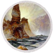 Yellowstone Tower Falls Round Beach Towel