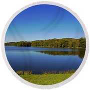 Yellowwood Lake 1 Round Beach Towel